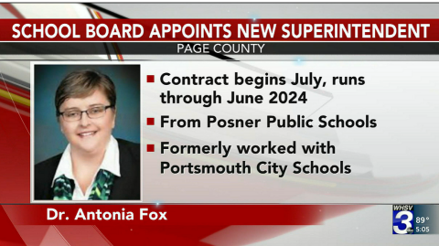 Page County School Board Appoints New Superintendent